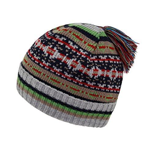 365c8bf51 Fiebig Sombrero De Punto Para Niños Gorro Gorra Con Borla Borlas Invierno  Niño Pequeño Patrón Noruego