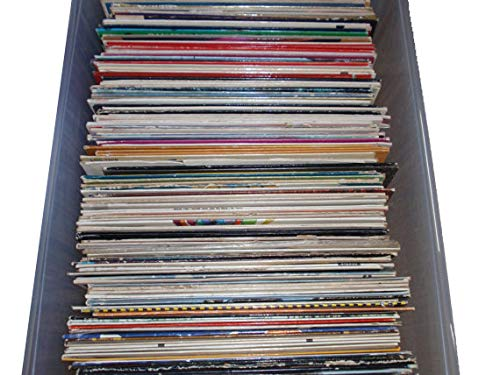 VinylShopUS - Mystery Box Vinyl Records Music Albums LPS Bulk Lot Randomly Chosen Vintage Original LPs With Sleeves Lot of 20, Black
