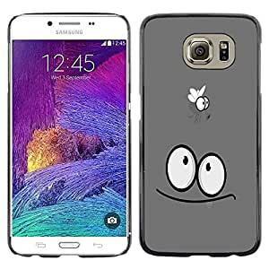 Funny Fly - Metal de aluminio y de plástico duro Caja del teléfono - Negro - Samsung Galaxy S6 / SM-G920 / SM-G920A / SM-G920T / SM-G920F / SM-G920I