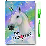 SmitCo LLC Notebooks and Journals - Diary For Girls - Light-Up Unicorn With 80 Blank Lined Pages And Invisible Ink Pen With Blue Light To Keep Her Secrets And Dreams Safe - For Kids 5 Years And Over