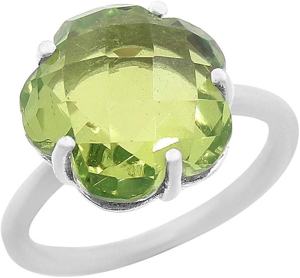 Desiregem Colorchange Alexandrite Lab Created 10x10 MM Round Shape 925 Sterling Silver Ring Size 6-10 DGR1090/_D