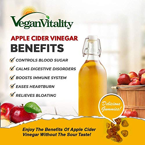 Apple Cider Vinegar Gummies SUGAR FREE. Vegan Unfiltered ACV Gummies Enriched With Superfoods & Vitamin B6 & B12. Alternative To Apple Cider Vinegar Capsules