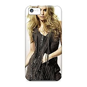 Flexible Tpu Back Case Cover For Iphone 5c - Shakira Blonde Singer Dress Female Celebrities