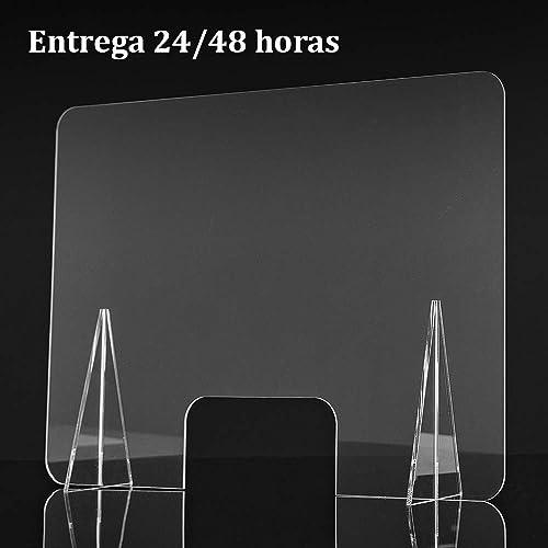 Mampara de metacrilato transparente. 65 x 50 cm. Varios tamaños. Envío 24 horas.: Amazon.es: Handmade