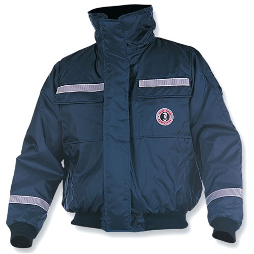 Mustang Survival Classic Bomber Jacket (Navy, Small)