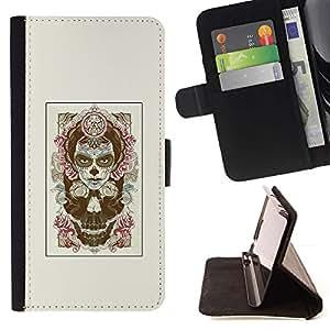 Momo Phone Case / Flip Funda de Cuero Case Cover - Rose de la bruja de Halloween - LG G4 Stylus H540