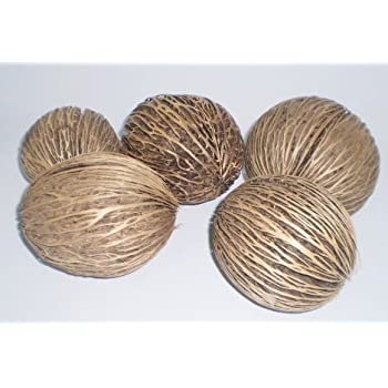 Set Of 6 Natural Willow Decorative Balls 3 1/2-4 Inch