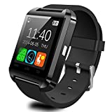 Wearable Smartwatch Bluetooth 3.0+EDR,CEStore Luxury U8 Touch Screen Wireless Wrist Watch Phone Mate Handsfree Call For Smartphone Outdoor Sports Pedometer /Recording/ MMS/ SMS Stopwatch-Black