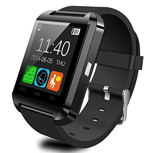 Wearable Smartwatch Bluetooth 3.0+EDR,CEStore® Luxury U8 Touch Screen Wireless Wrist Watch Phone Mate Handsfree Call For Smartphone Outdoor Sports Pedometer /Recording/ MMS/ SMS Stopwatch-Black (Mms Sleep System)