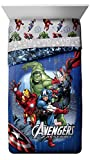 Marvel Avengers Classic Halo Twin/Full Comforter - Super Soft Kids Reversible Bedding features Iron Man, Hulk, Captain America, and Thor - Fade Resistant Polyester (Official Marvel Product)