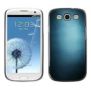 CASECO - Samsung Galaxy S3 - Blue Gradient - Delgado Negro Plástico caso cubierta Shell Armor Funda Case Cover - Pendiente azul