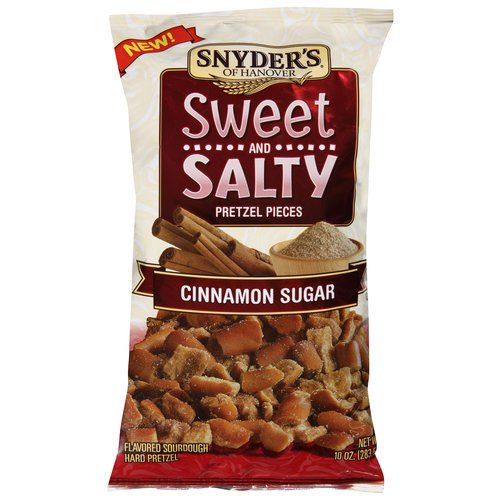 Snyder's Sweet and Salty Pretzel Pieces 10oz Bag (Pack of 3) Select Flavor Below (Cinnamon Sugar) -