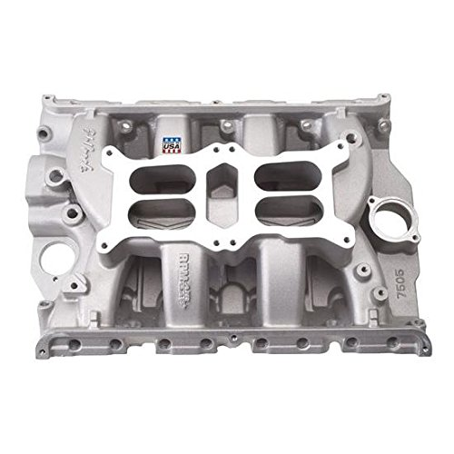 (Edelbrock 7505 RPM Air-Gap Dual-Quad FE Intake Manifold Non-EGR1500-6500rpmFord FE 390/428 Will Not Fit 427 Ford Hi-riser And Tunnel Port Engines RPM Air-Gap Dual-Quad FE Intake Manifold)