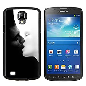 Caucho caso de Shell duro de la cubierta de accesorios de protección BY RAYDREAMMM - Samsung Galaxy S4 Active i9295 - blanco y negro Chernoe i