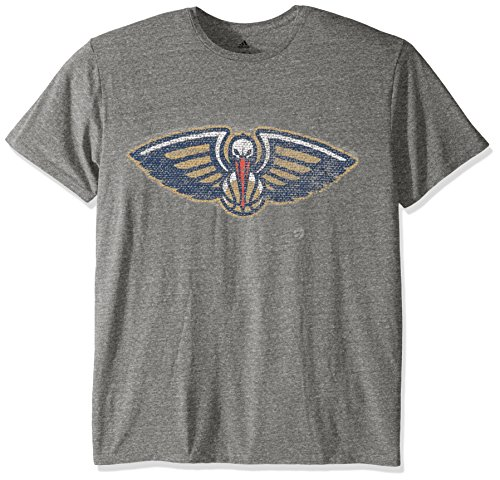 fan products of NBA New Orleans Pelicans Men's Favorite ID Tri-Blend Short Sleeve Tee, Gray, Medium