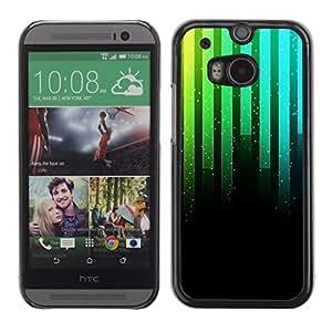 Cubierta de la caja de protección la piel dura para el HTC ONE M8 2014 - Full Moon Modern City