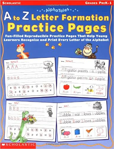 Amazon.com: AlphaTales: A to Z Letter Formation Practice Pages ...