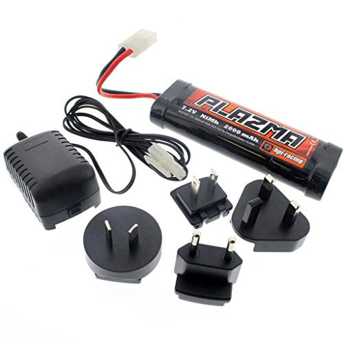 HPI 1/10 E10 Drift Mustang * PLAZMA 6 Cell 7.2V 2000mAh NiMH BATTERY & CHARGER