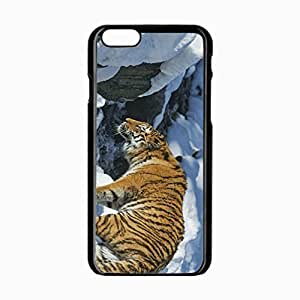 iPhone 6 Black Hardshell Case 4.7inch tiger snow predator Desin Images Protector Back Cover
