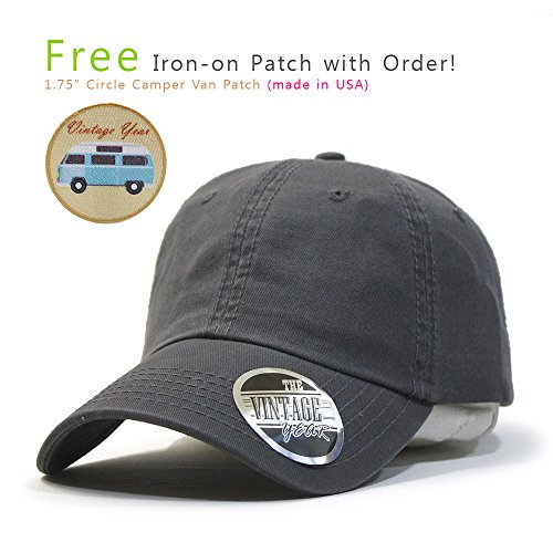 (Classic Washed Cotton Twill Low Profile Adjustable Baseball Cap (Charcoal Gray B))