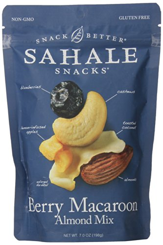 Mix Macaroon Coconut (Sahale Snacks Berry Macaroon Almond Trail Mix, Berry Macaroon, Gluten-Free Snack, 7 Ounces)