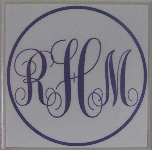 Personalized Coasters - Monograms - Set of 4-4