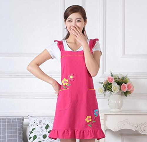 Very Attractive Fashion Cotton Apron Cute Princess Apron for Women (Rose) Easyflower