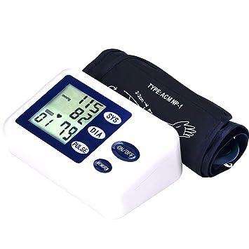 YHMMOO Tensiómetro de Brazo con Gran Pantalla LCD y Irregular Indicador del Latido del Corazón 90 Memoria para Uso Clínico y Doméstico,White: Amazon.es: ...