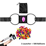 YHMALL 100 Yard Water Balloon Launcher with 500 Water Balloons, Summer Water Bombs War Catapult Slingshot for Three Kids or One Adult