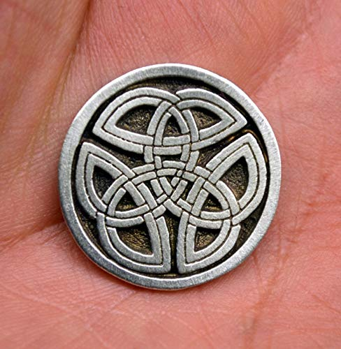 Celtic Trinity Knot Buttons Sewing Buttons in Fine Pewter 1 inch (25 mm)