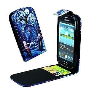 GDW Teléfono Móvil Samsung - Carcasas de Cuerpo Completo - Gráfico/Diseño Especial - para Samsung S3 Mini I8190N ( Multi-color , Cuero PU )