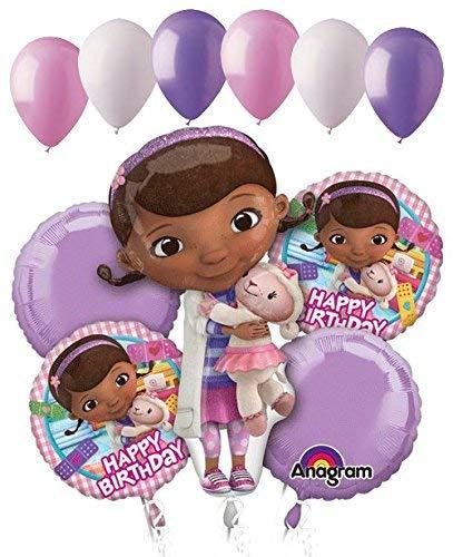 11 pc Doc Mcstuffins Happy Birthday Balloon Bouquet Party Disney Doctor Girl Vet -