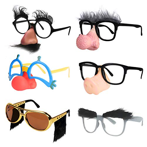 Clown Glasses With Nose - Ocean Line Funny Disguise Glasses, Groucho