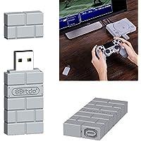 PinShang - Adaptador Bluetooth inalámbrico USB portátil de 8 bitdos para Receptor Gamepad