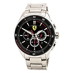 Ferrari Men\'s 0830188 Gran Premio Analog Display Quartz Silver-ToneWatch