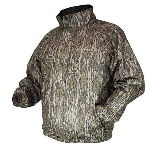 COMPASS 360 Mens AdvantageTek Waterproof Camo Rain Jacket (Mossy Oak Bottomland, Small)