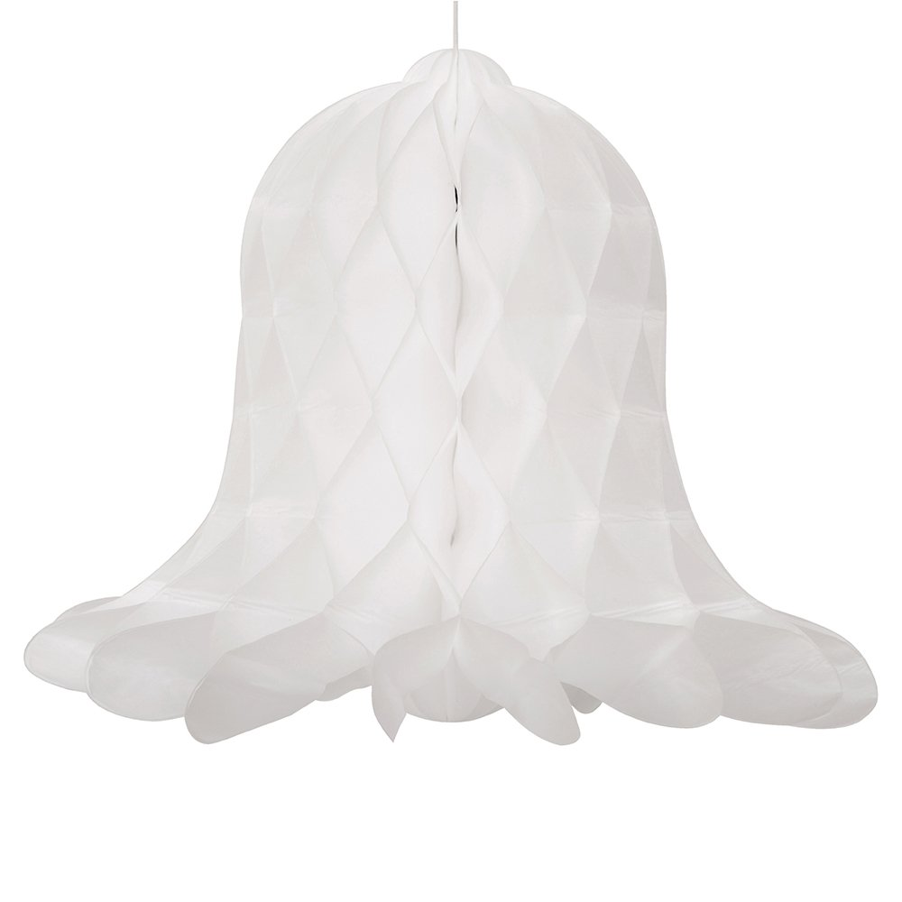 5'' Honeycomb White Wedding Bell Decorations, 5ct