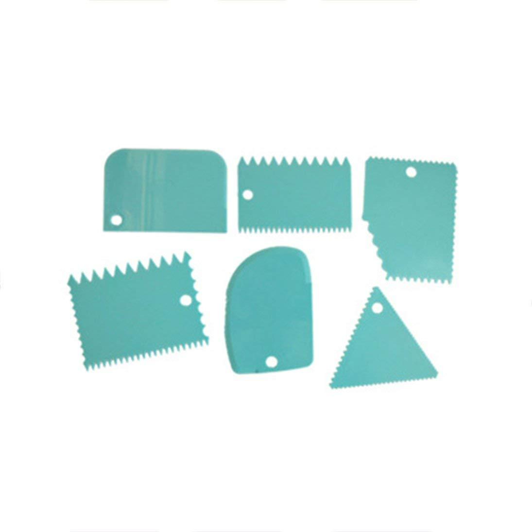 ToGames-DE 6 STÜCKE Multifunktionale Unregelmäßige Zähne Rand DIY Creme Schaber Set Kuchenform Werkzeug
