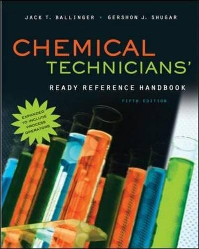 Pdf Engineering Chemical Technicians' Ready Reference Handbook, 5th Edition