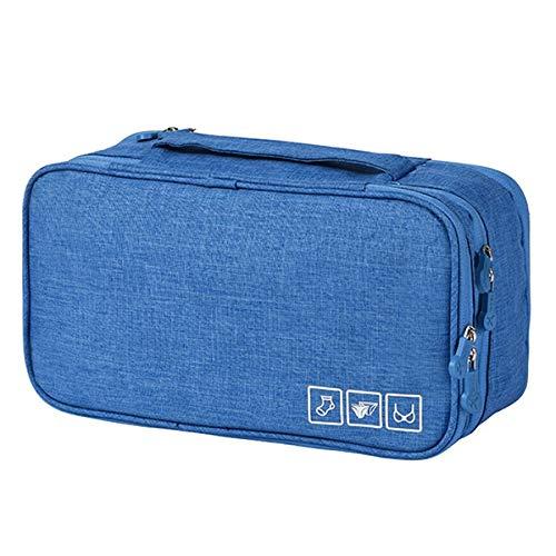 Shuzhen,Sac de rangement pour sous vêtements(color:Bleu