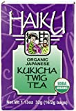 Haiku Japanese Kukicha Twig, 100% Organic, 16-Count Tea Bags (Pack of 6)