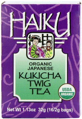 Haiku Japanese Kukicha Twig, 100% Organic, 16-Count Tea Bags (Pack of 6)
