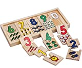 YiGooood Montessori Game Kids Math Toys Wooden Math Teaching Self Correcting Number Puzzles Matching Plate Calculation Mathematical Educational Toys