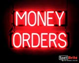 SpellBrite Ultra-Bright MONEY ORDERS Sign Neon-LED Sign (Neon look, LED performance)