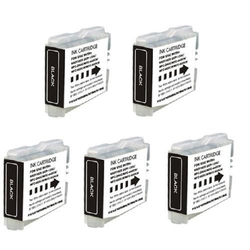 Lc51bk Black Ink - YATUNINK(TM) 5 NEW BLACK Printer Ink for LC51BK Brother MFC-230C MFC-240C MFC-440CN MFC-465CN