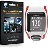 3 x Membrane Screen Protectors for TomTom Multi-Sport GPS Watch - Crystal Clear (Glossy), Retail Package, Installation Kit