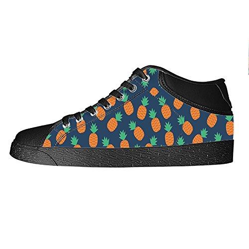 Custom Fumetto di ananas Womens Canvas shoes I lacci delle scarpe scarpe scarpe da ginnastica Alto tetto De Moda N9DMD2L3Q