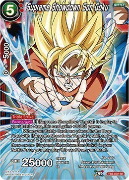 694675abab12a Supreme Showdown Son Goku - TB2-002 - SR