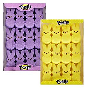 MARSHMALLOW PEEPS BUNNY EASTER CANDY PURPLE 12 PC EACH 3.25 oz