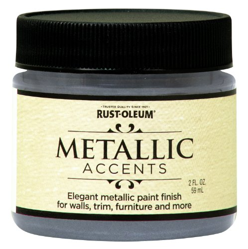 Rust-Oleum 255333 Metallic Accents Paint, 2 oz Trial Size, Real Pewter